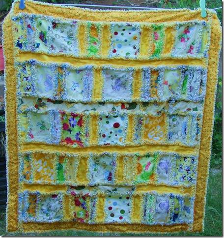 scrappy quilt for Rosie