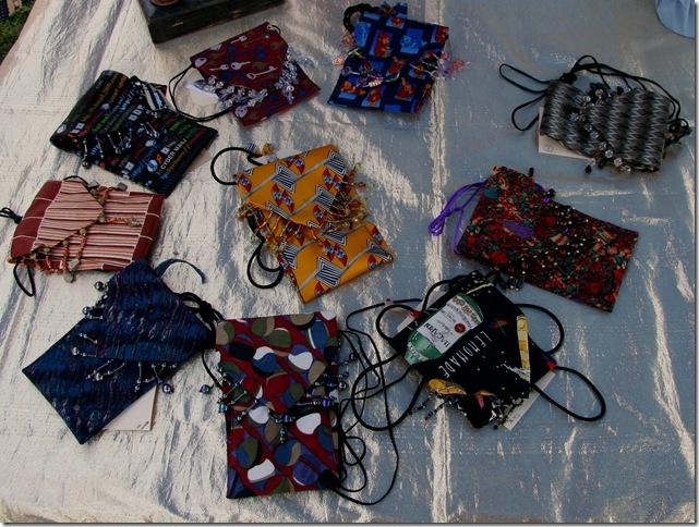silk tie purses