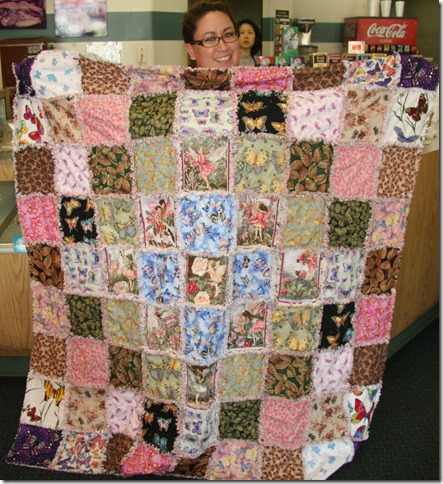 American Rosie and her buttery quilt